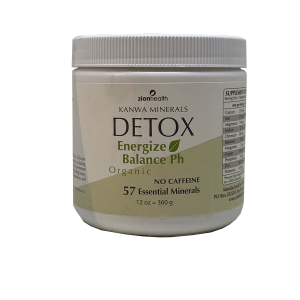 A bottle of Detox Organic Minerals