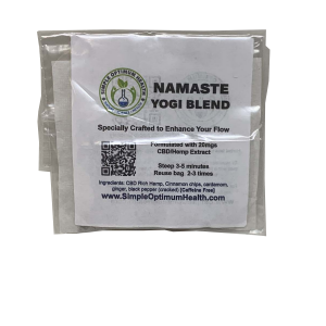 A bag of Namaste Yogi Blend Tea